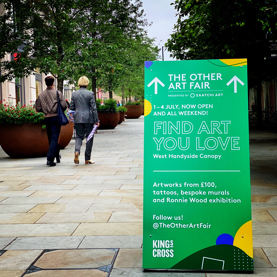 The Other Art Fair entrance King's Cross July 2021