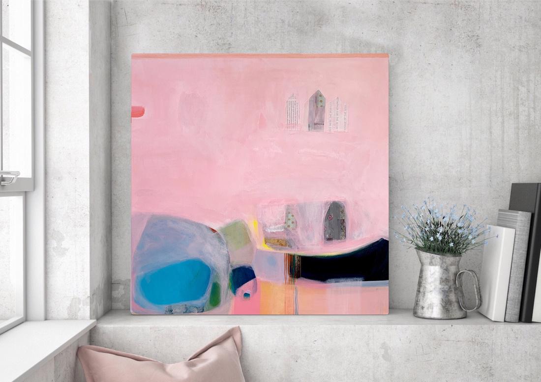 Margate, 60cm x 60cm, canvas, white frame. SOLD