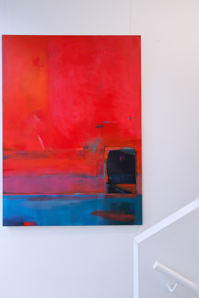In Between This World. 1.8 m x 1.3 m, canvas. Unframed