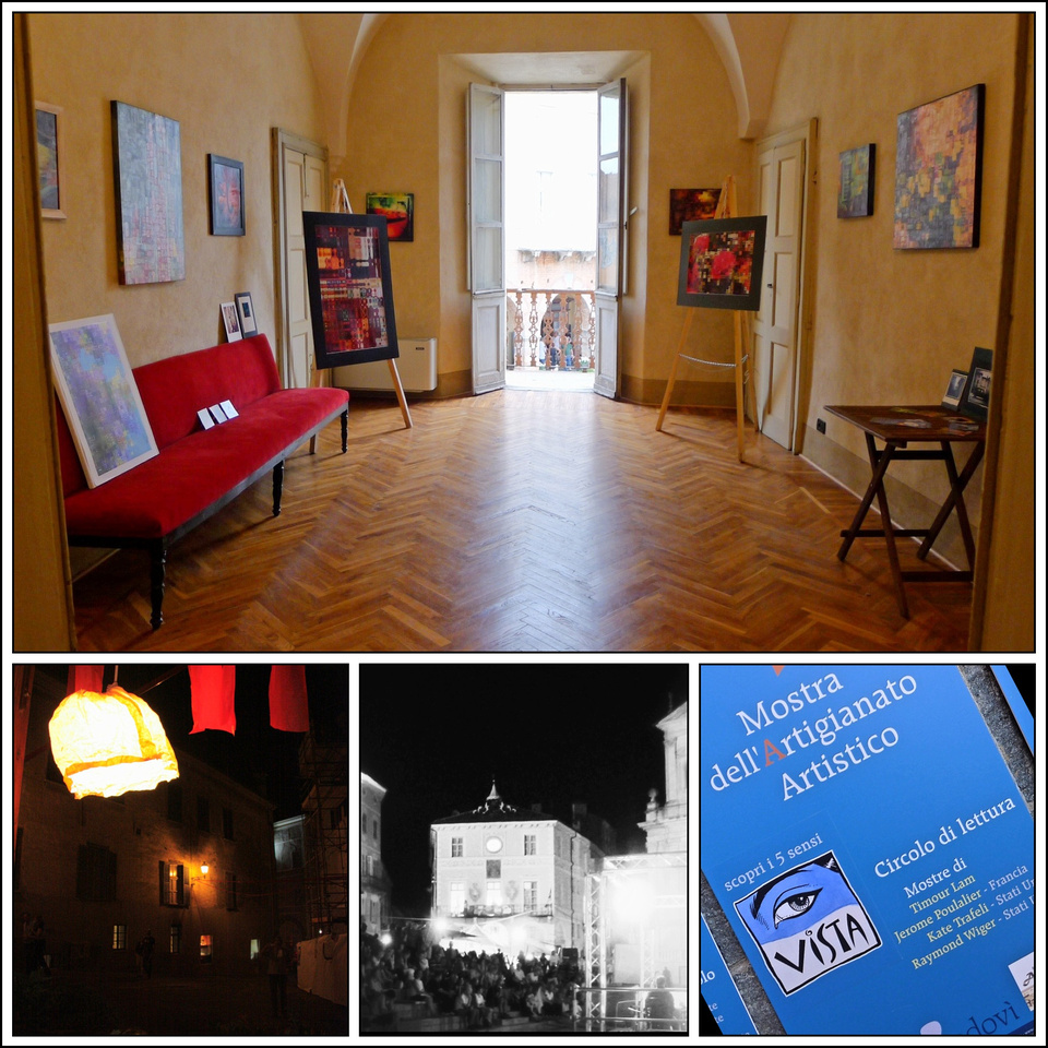 main pic: K. Trafeli exhibit; small pics details from the Mostra 2012